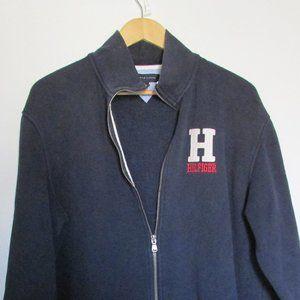 Tommy Hilfiger Blue Zippered Sweatshirt  SZ XL